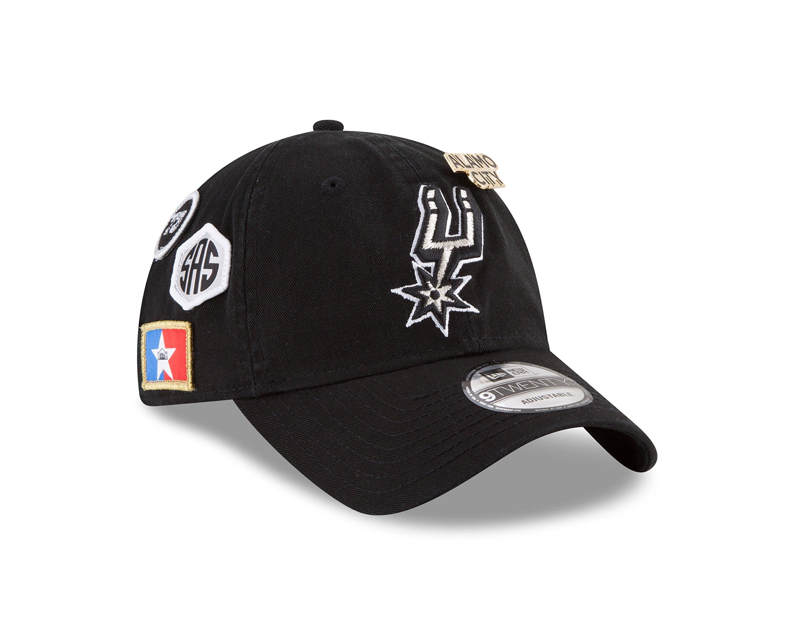 New Era San Antonio Spurs 2018 NBA Draft Cap 9Twenty Adjustable Dad's Hat- Black