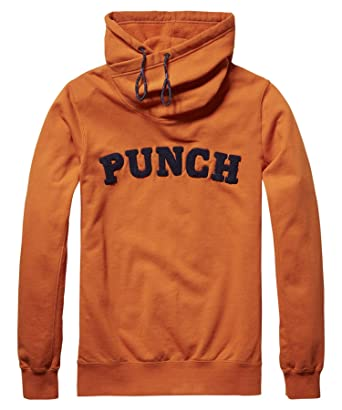 Scotch & Soda Men's Classic Twisted Hoodie, Orange, ...