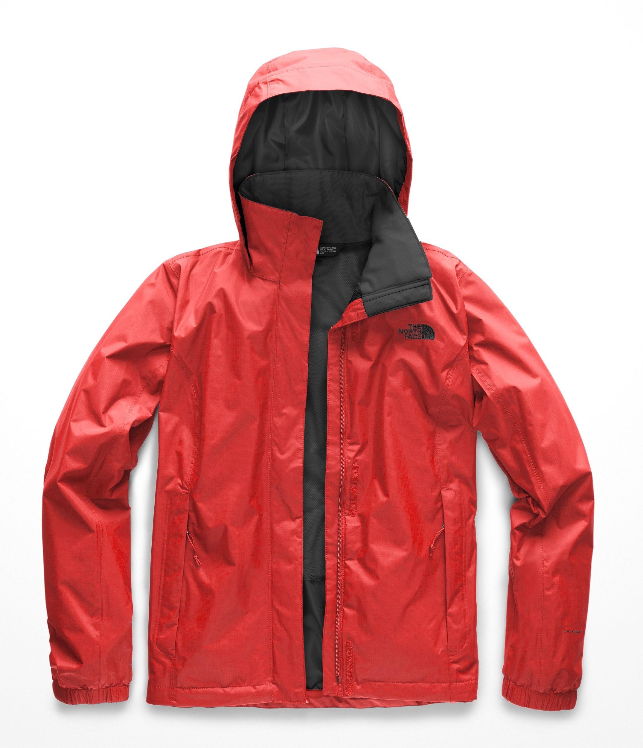 The North Face Women Resolve 2 Jacket - Juicy Red & Asphalt Grey - XL