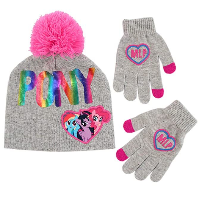 4af72a360be9e Image Unavailable. Image not available for. Color  Hasbro Girls Little Pony  Hat and Gloves Cold ...