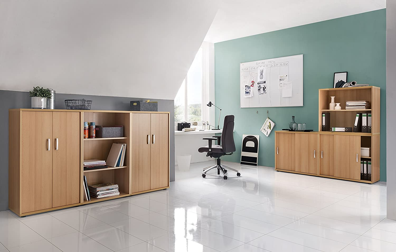 Markenlos Büroeinrichtung Büromöbel Aktenschrank Aktenregal Buche ...