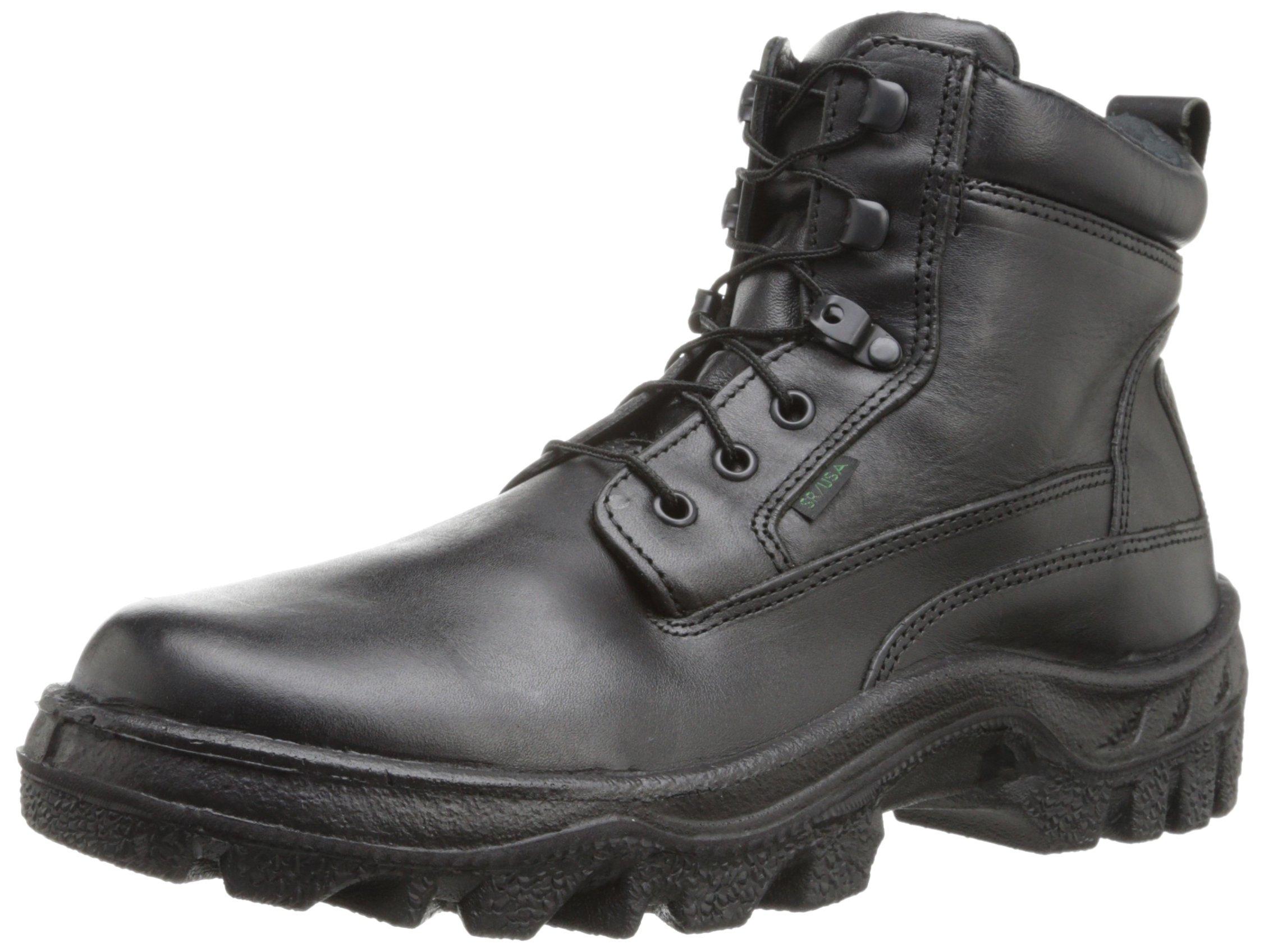 Rocky Men's Postal TMC 6 Inch Plain Toe Work Boot,Black,7.5 W US