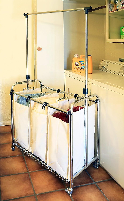 Amazon.com: Seville Classics - Cesta de lavandería de alta ...
