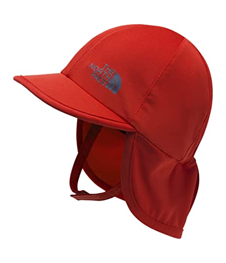 bf1b0a127 Amazon.com: The North Face Kids Unisex Baby Sun Buster Hat Fiery Red ...