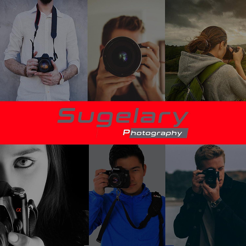 Sugelary Correa de hombro para C/ámara Digital de Neopreno Nylon Negro para Canon Nikon Sony Correa camara DSLR SLR Camara Compacta