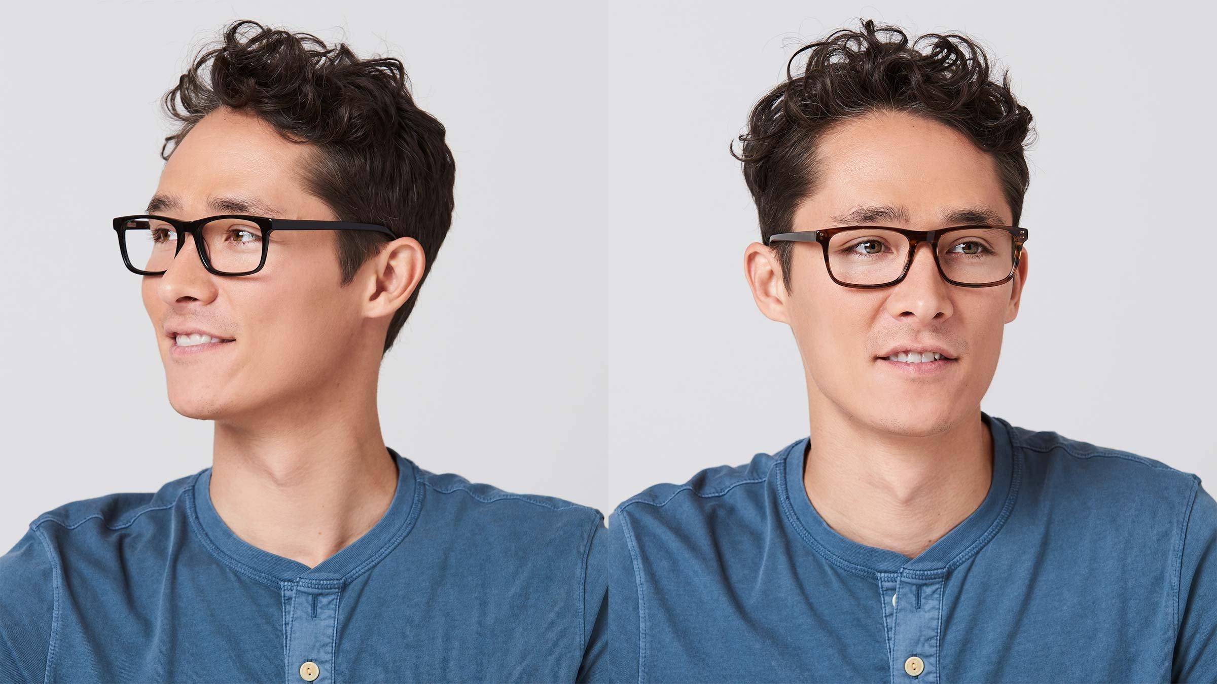 Pixel Eyewear Designer Computer Glasses with Anti-Blue Light Tint UV Protection, Anti-Glare, Full Rim, Acetate Frame Black Color - Buteo Style by Pixel Eyewear (Image #6)