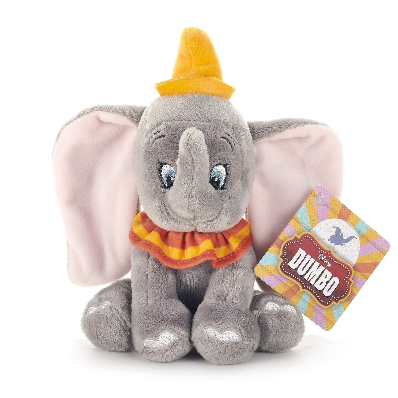 Disney 37275 Dumbo - Peluche de Elefante, 18 cm, Color Gris