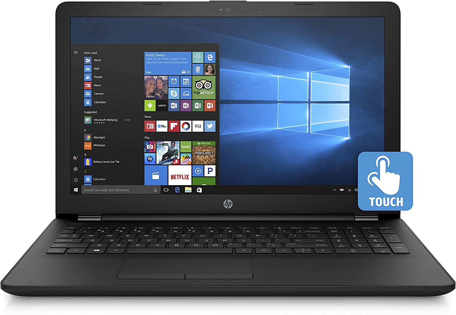 HP 2019 Premium Pavilion 15.6 Inch Touchscreen Laptop (Intel Pentium 4-Core N5000 1.10GHz, up to 2.70GHz Turbo, 8GB RAM, 512GB SSD, WiFi, Bluetooth, Windows 10)