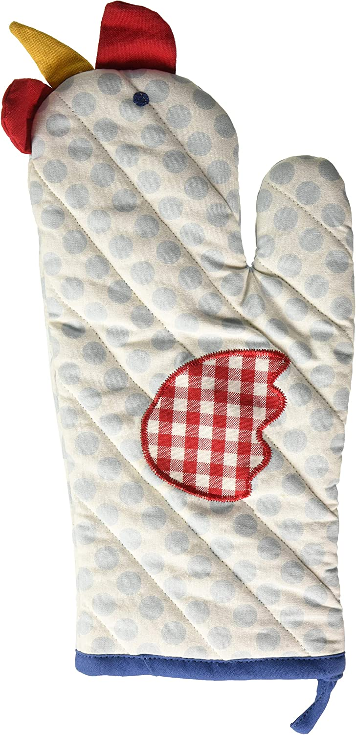 DII Polka Dot Chicken Oven Mitt, Multi