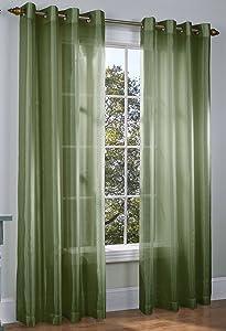 Gorgeous Home 1pc Indoor Grommet Top Panel Window Curtain Unlined Semisheer 55
