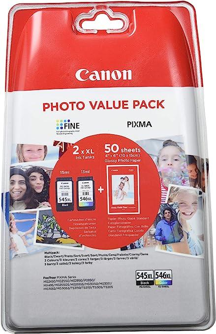 Canon PG-545XL+CL-546XL Cartucho de tinta original Negro XL y ...