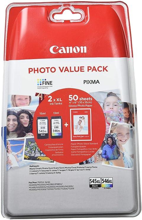 Magenta 2 x 8 ml Gelb Schwarz Original Tinten Spar-Set Canon PG545//CL-546 8287B005-2 Tinten-Patronen 1 x 180 /& 1 x 180 Seiten Cyan