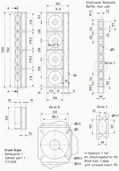 Visaton Grand Orgue Kit Pair 3 Way System Mp3 Hifi