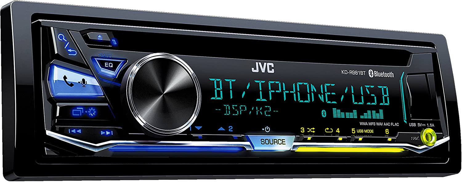 JVC KD-R981BT Car Stereo (Bluetooth, iPod Control:iPod Plug-In only,):  Amazon.co.uk: Electronics