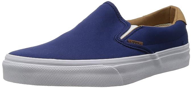 Vans HerrenDamen U Authentic (Washed) Black Sneakers, Rosso