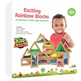Exciting Shimmering Water, Rainbow, Sound, and Sand Wooden Blocks - An Adventure in Color, Light and Sound