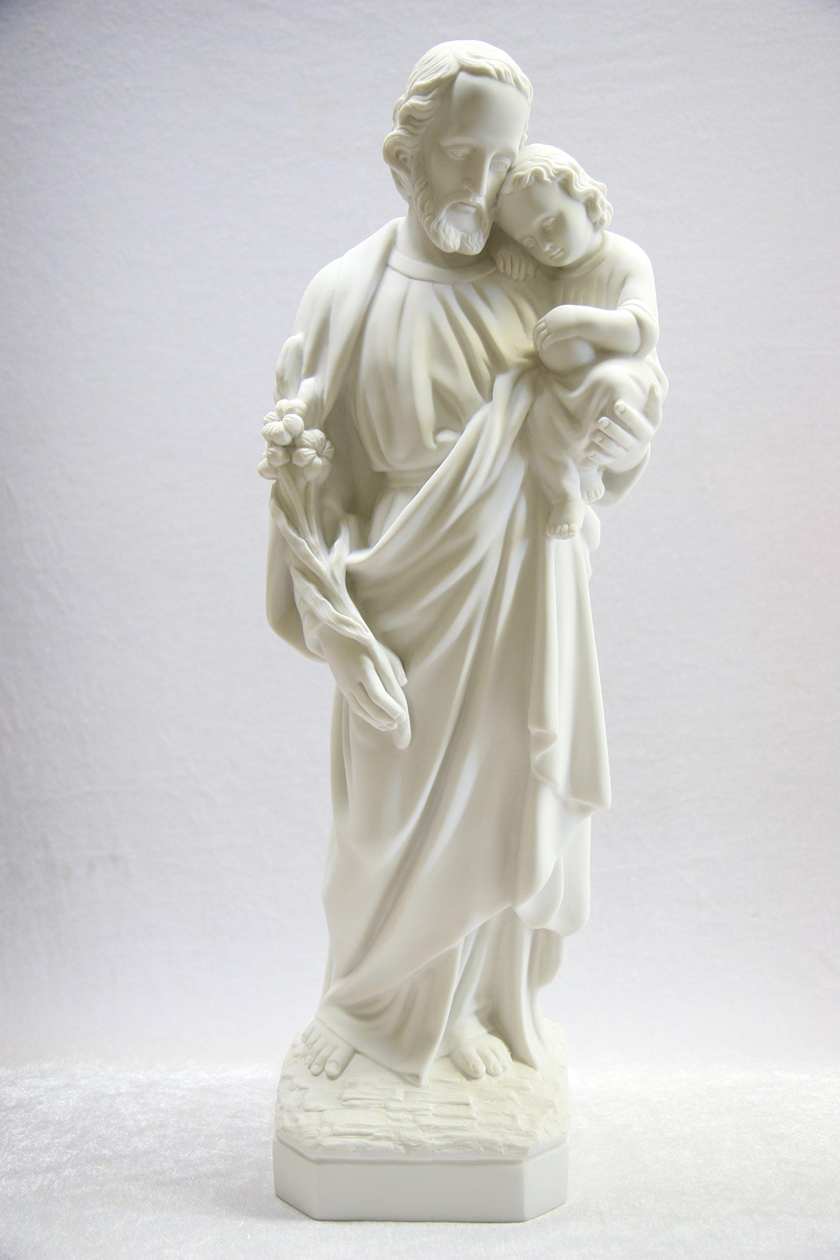 23 1/2'' Saint Joseph with Jesus Baby Holy Child Catholic Statue Sculpture Figurine Religious