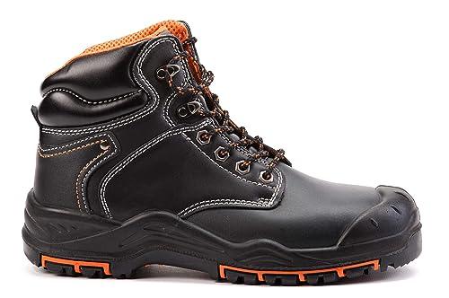 Tobillo Puntera Acero Hombres Cuero 9972 S3 Al De Calzado Botas Src Trabajo Seguridad Para Yb7yvf6gI