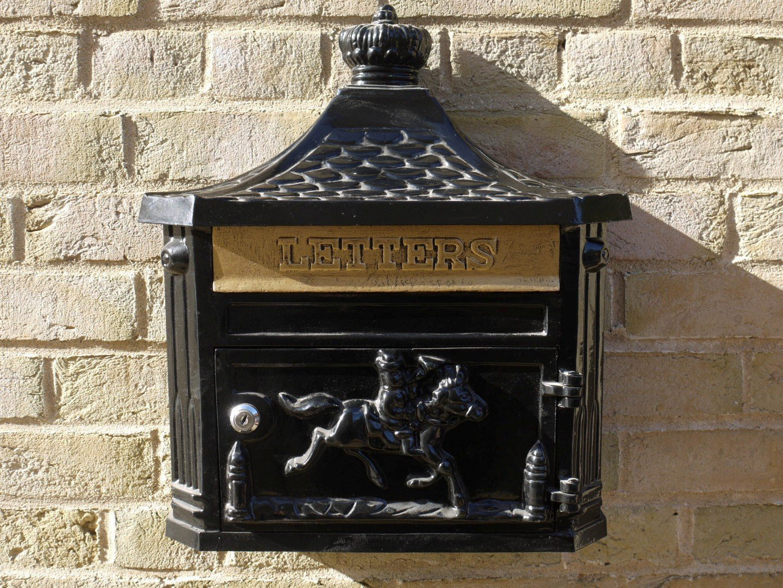 Aluminium Wall Post Box Brown /& Ginger The Marlborough Midnight Black