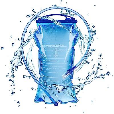 TRIWONDER TPU Bolsa de Agua Soft Flask 1.5-2-3L Vejiga de Hidratación Deportivas sin BPA a Prueba de Fugas Ideal para Mochila de Hidratación para Correr Ciclismo Senderismo