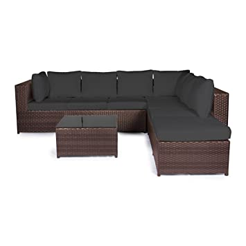Loungemöbel outdoor schwarz  Amazon.de: Vanage Gartenmöbel-Set XXXL