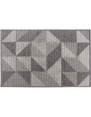 Lonior Tapis d'entréeIntérieur Paillasson d'entrée Antidérapant Lavable en Machine Très Absorbant Polyester Tapis d' Porte 80x50cm