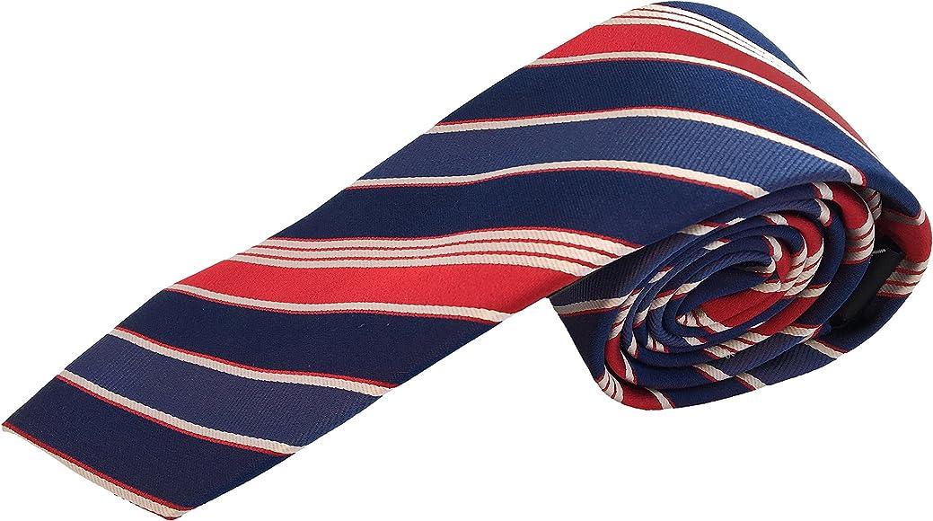 Corbatas de hombre - Corbata rayas azul rojo - Corbata fabricada a mano - 100% seda. Pietro Baldini: Amazon.es: Ropa y accesorios