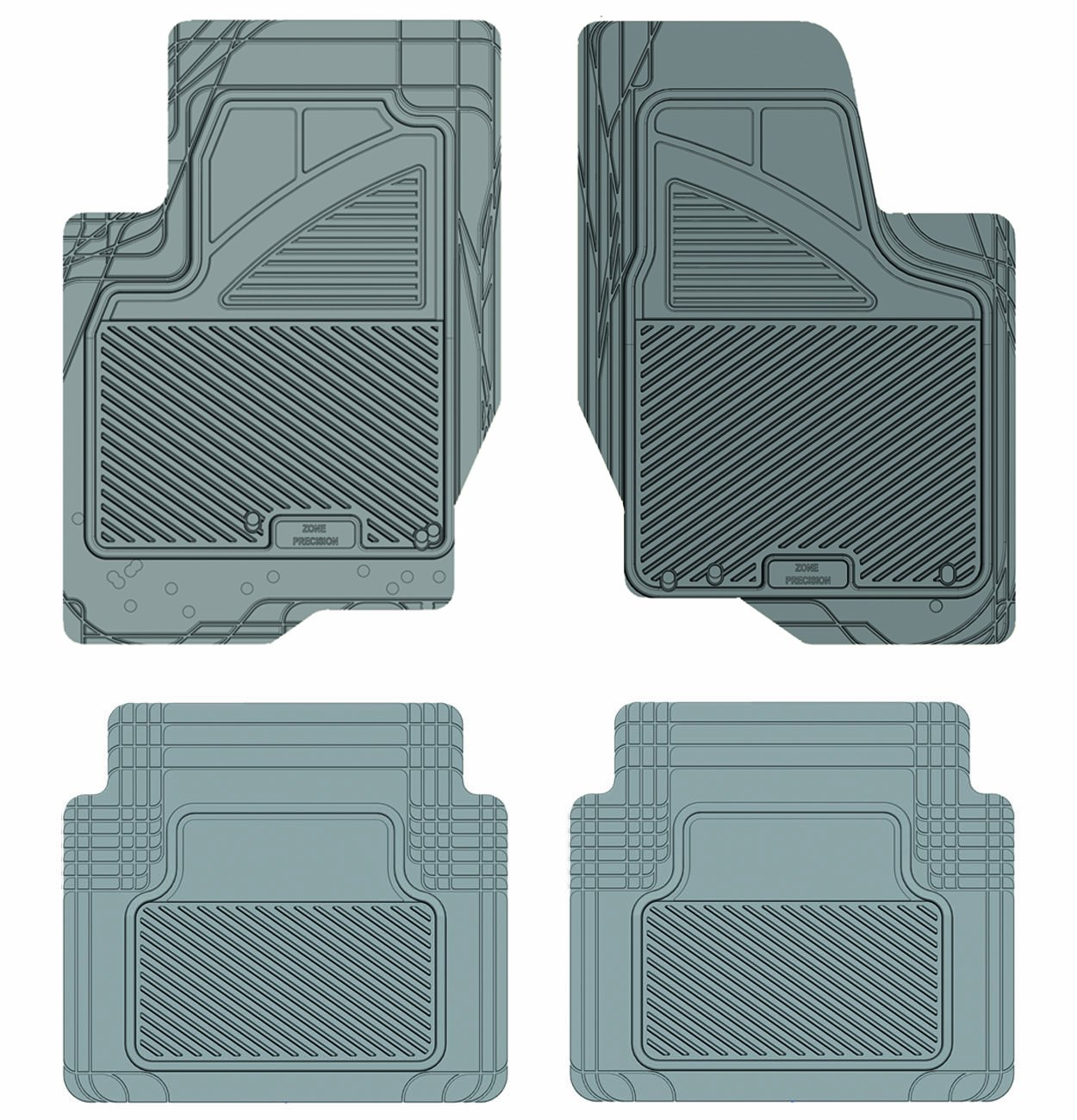 Grey Koolatron Pants Saver Custom Fit 4 Piece All Weather Car Mat for Select Pontiac Sunfire Models