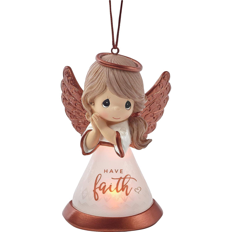 Precious Moments Faith Angel LED 191434 Ornament One Size Multi