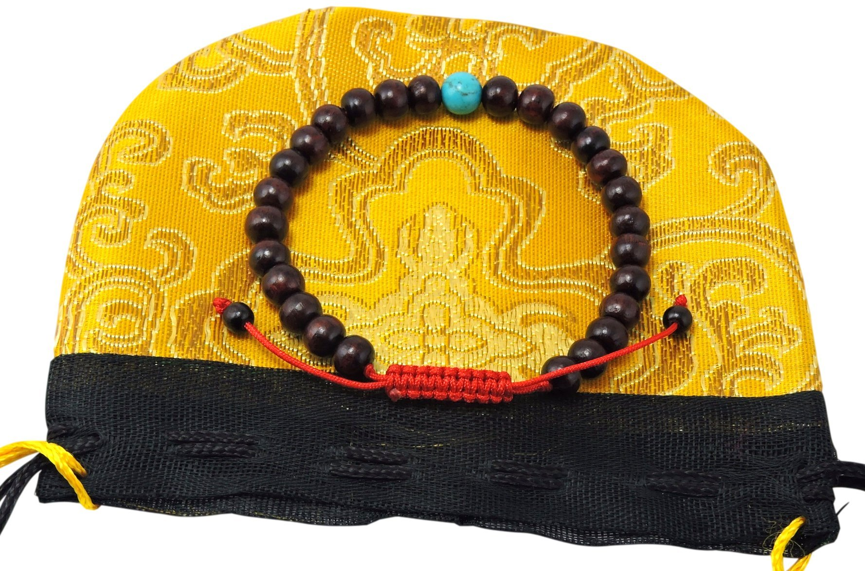 Rosewood Turquoise Wrist Mala/ Bracelet for Meditation RM-29