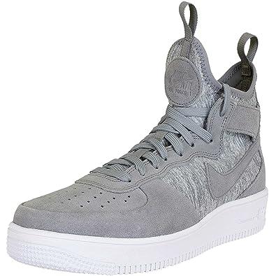 Nike Air Force 1 UF Mid Premium Sneaker Trainer (44 EU, grey