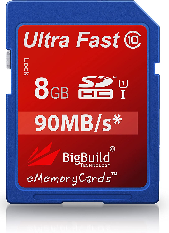 Class 10 SD SDHC BigBuild Technology 8GB Ultra Fast 90MB//s Memory Card For Fuji Film FinePix SL300 Camera