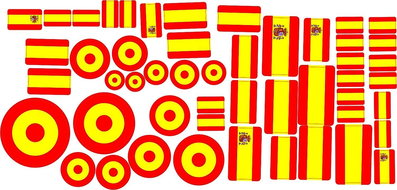 Oedim Pack 2 Lotes Pegatinas Banderas España 30 x 15 cm | Adhesivo ...