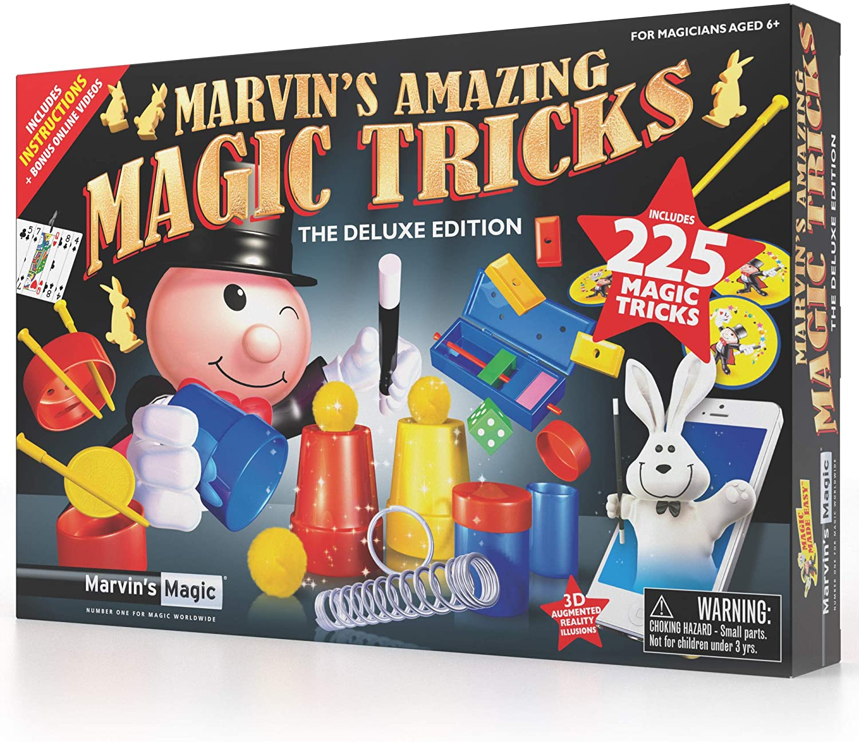 Marvin's Magic - 225 Amazing Magic Tricks for Children | Kids Magic Set | Magic Tricks for Kids Including Mystical Magic Cards, Magic Theatre, Magic Wand + More: Toys & Games