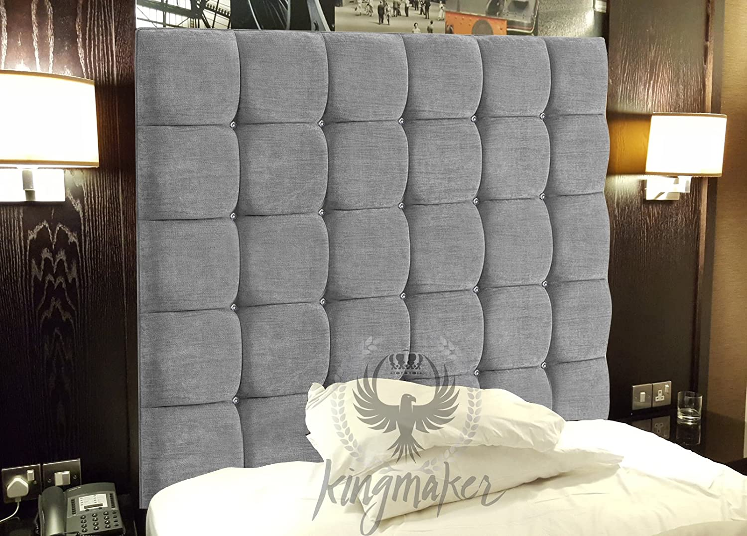 TrendMakers 4FT Luxury Wall Mounted Cube CHENILLE Headboards ...