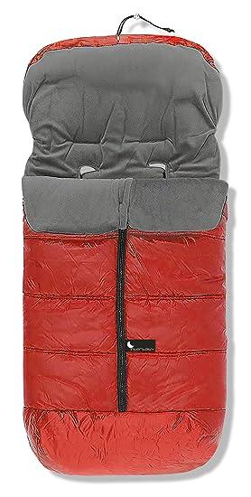 Saco Polar Universal de Invierno para Silla de Paseo color Rojo-Gris Interbaby: Amazon.es: Bebé
