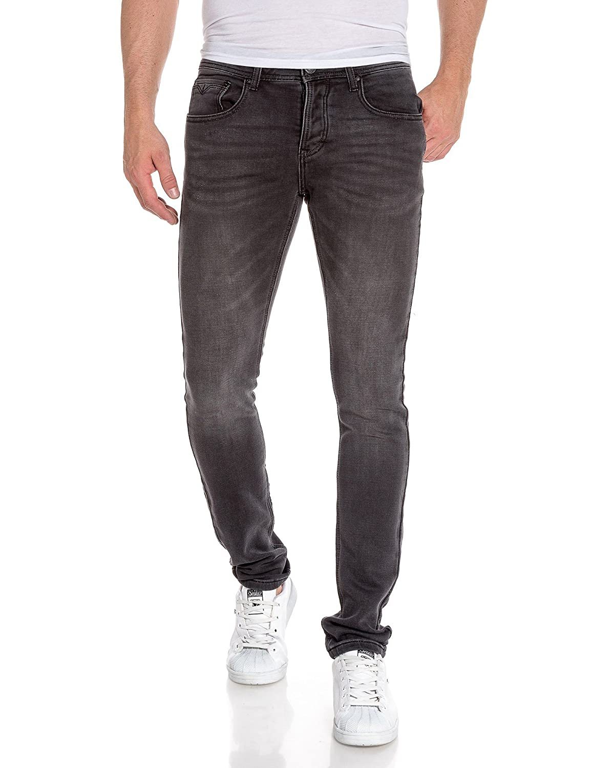 good BLZ jeans - Jog skinny faded black jeans and wrinkled trend