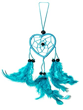 Weiß Dreamcatcher Traumfänger Blau 25cm x 6cm