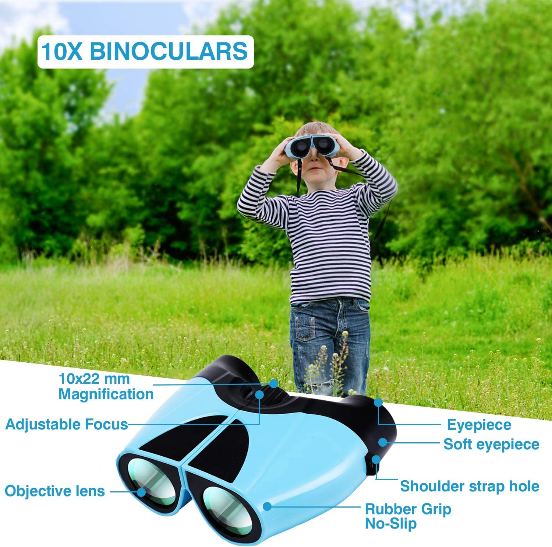 Observaci/ón de Aves Prism/áticos 10x22 HD Compact Binoculars Prism/áticos ni/ños peque/ños Profesionales Binoculars for Adults para Viajes al Aire Libre Concierto Caza