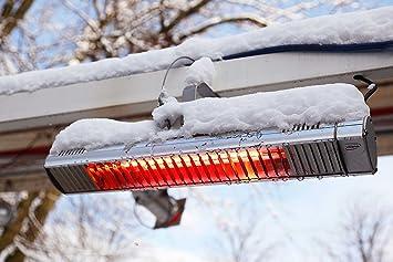 Calentador de infrarrojos de 1.500 W – term2000 IP67 – Impermeable para terraza, balcón o