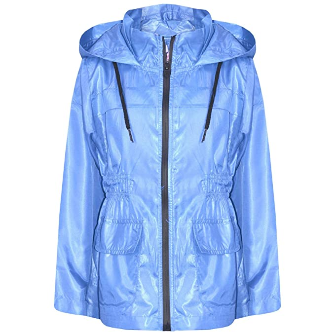 A2Z 4 Kids/® Kids Girls Boys Windbreaker Jackets Designers Contrast Block Hooded Zipped Light Weight Kagoul Raincoats Rain Mac Age 5 6 7 8 9 10 11 12 13 Years