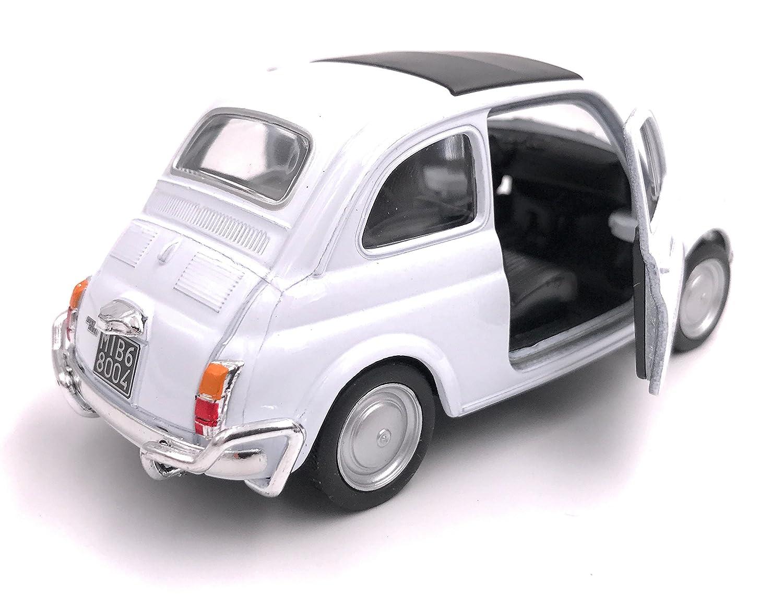 34-1 Welly Licencia de Auto Modelo Fiat Nuova 500 para autom/óvil Producto 1 39 OVP Blanco