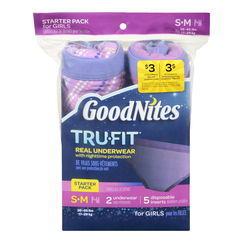 Goodnites Trufit Real Underwear for Girls, Starter Pack Size S-m: Amazon.es: Salud y cuidado personal
