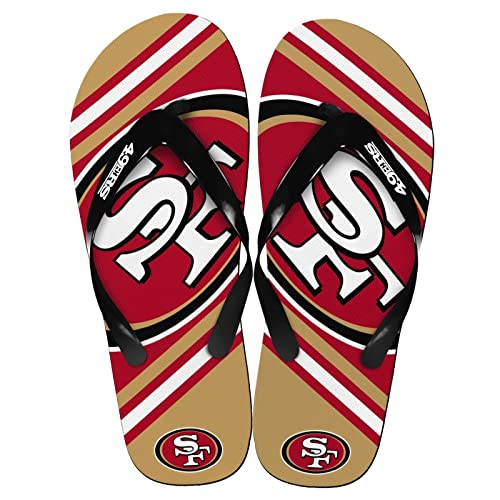 e1051a9494e Amazon.com  FC-Forever Collectibles Officially Licensed NFL Team Logo Flip  Flop Sandals Unisex Assorted Teams and Sizes  Sports   Outdoors