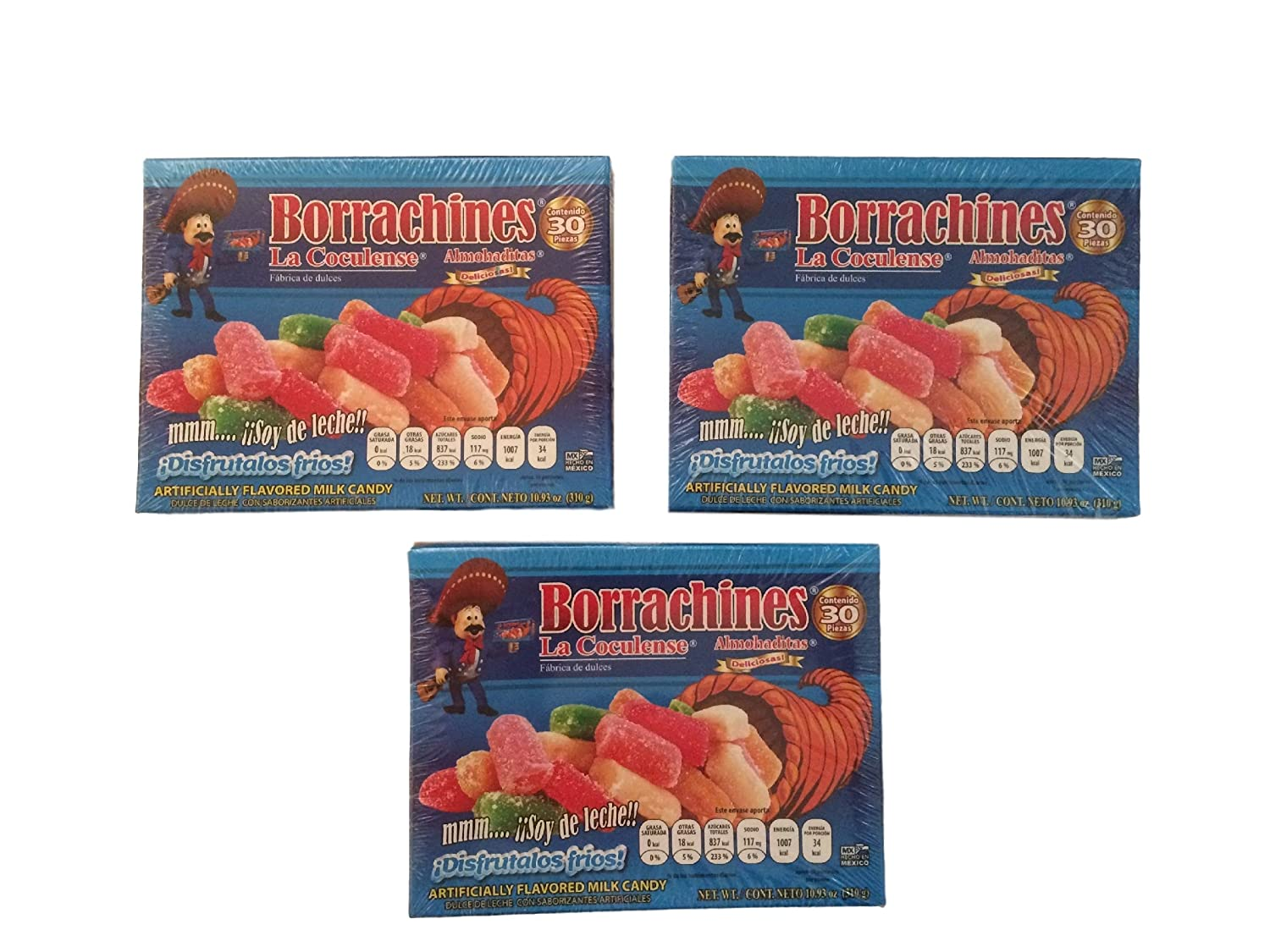 Amazon.com : La Coculense Borrachitos Mexican Milk Candy, Small, 30-Pcs Per Pack (Pack of 3) : Grocery & Gourmet Food