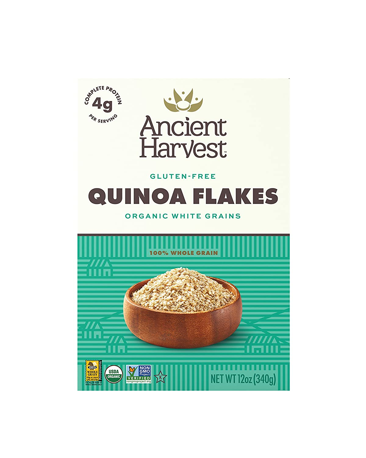 Amazon ancient harvest organic gluten free 100 whole grain amazon ancient harvest organic gluten free 100 whole grain quinoa flakes 12 oz box pack of 6 a natural substitution to oatmeal or wheat based ccuart Choice Image
