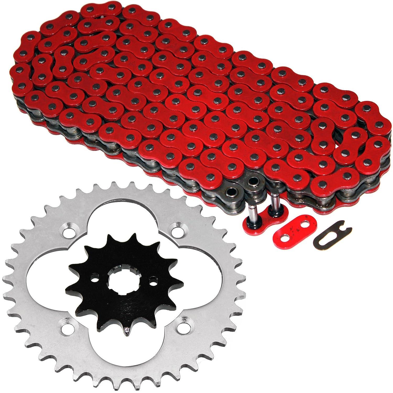 Caltric Red O-Ring Drive Chain & Sprockets Kit Fits HONDA TRX300EX TRX-300EX FOURTRAX 1993-2008