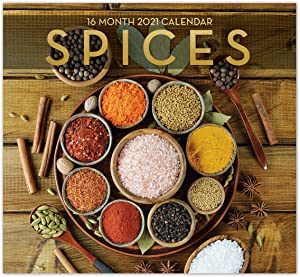 2021 Spices 16-Month Wall Calendar for Planning, Scheduling, and Organizing
