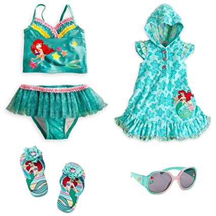 daba7af6dc Buy Disney Store Ariel Little Mermaid Swimsuit Cover-Up Sandals Shades Size  Medium Online at Low Prices in India - Amazon.in