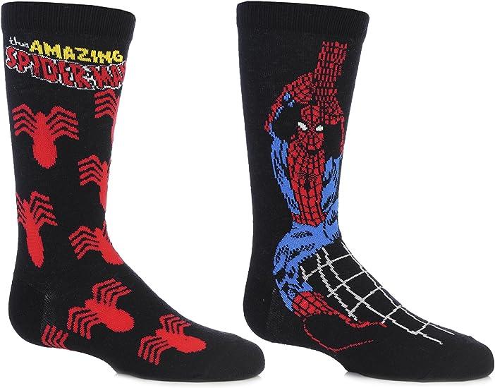 SockShop Kids 2 Pair Marvel The Amazing Spider-Man Socks